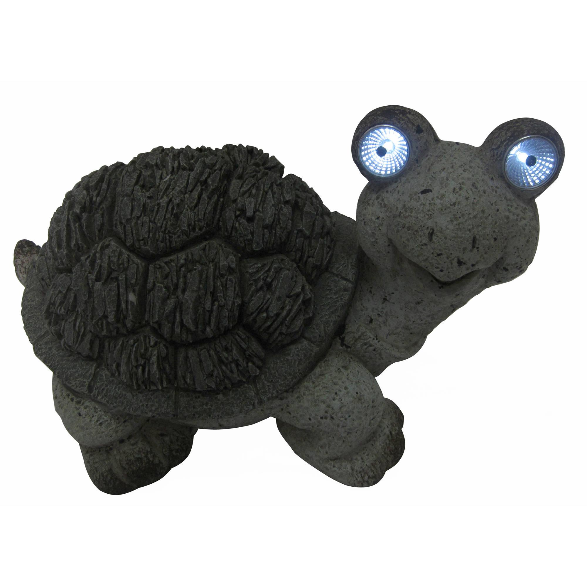 "10"" Solar Turtle Statue"