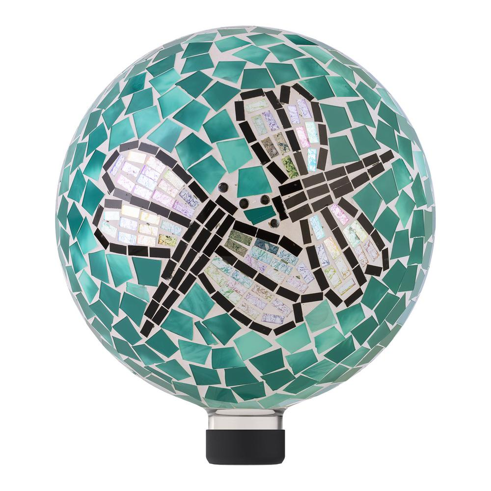 "10"" Mosaic Dragonfly Duo Gazing Globe"