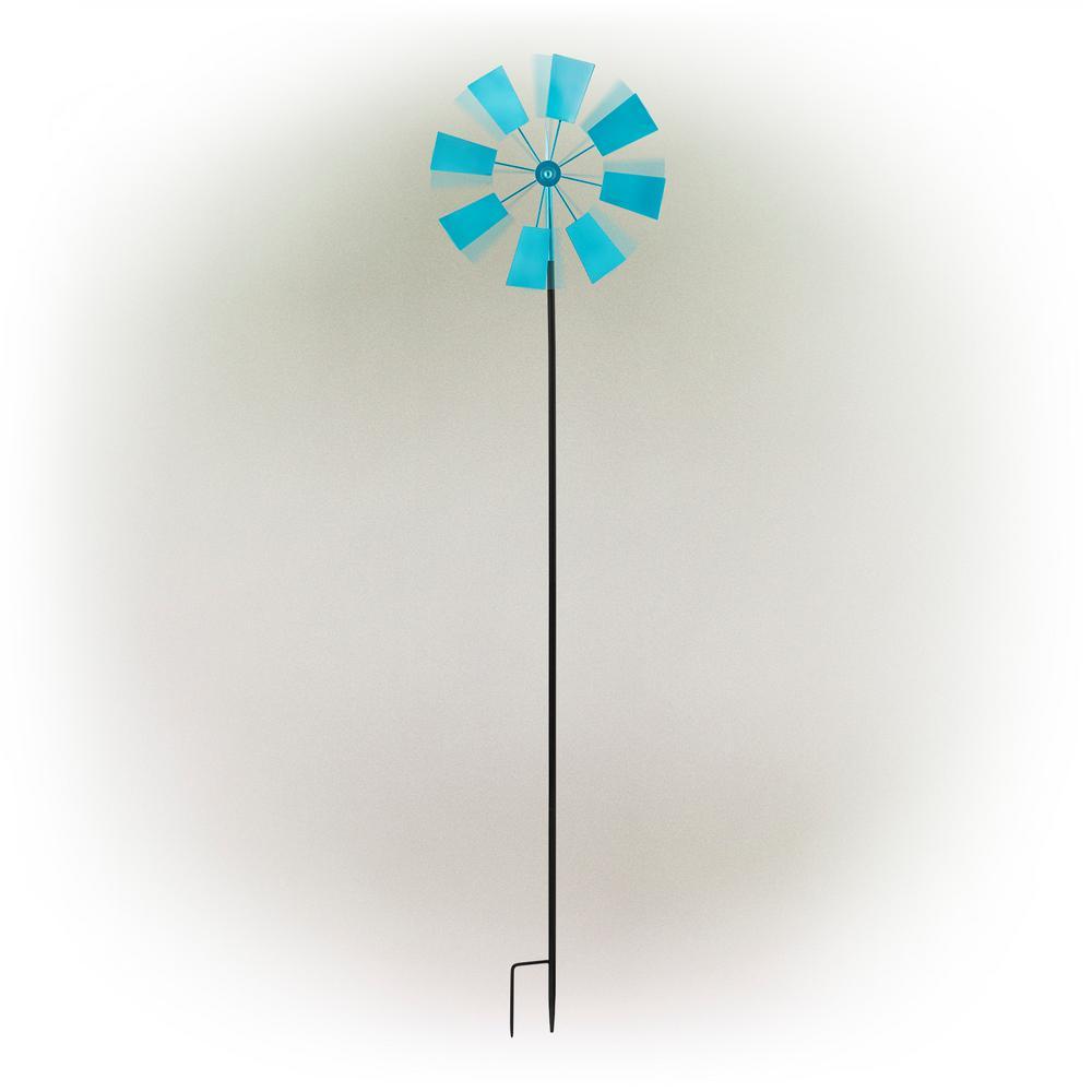 "52"" Blue Metal Windmill Stake"