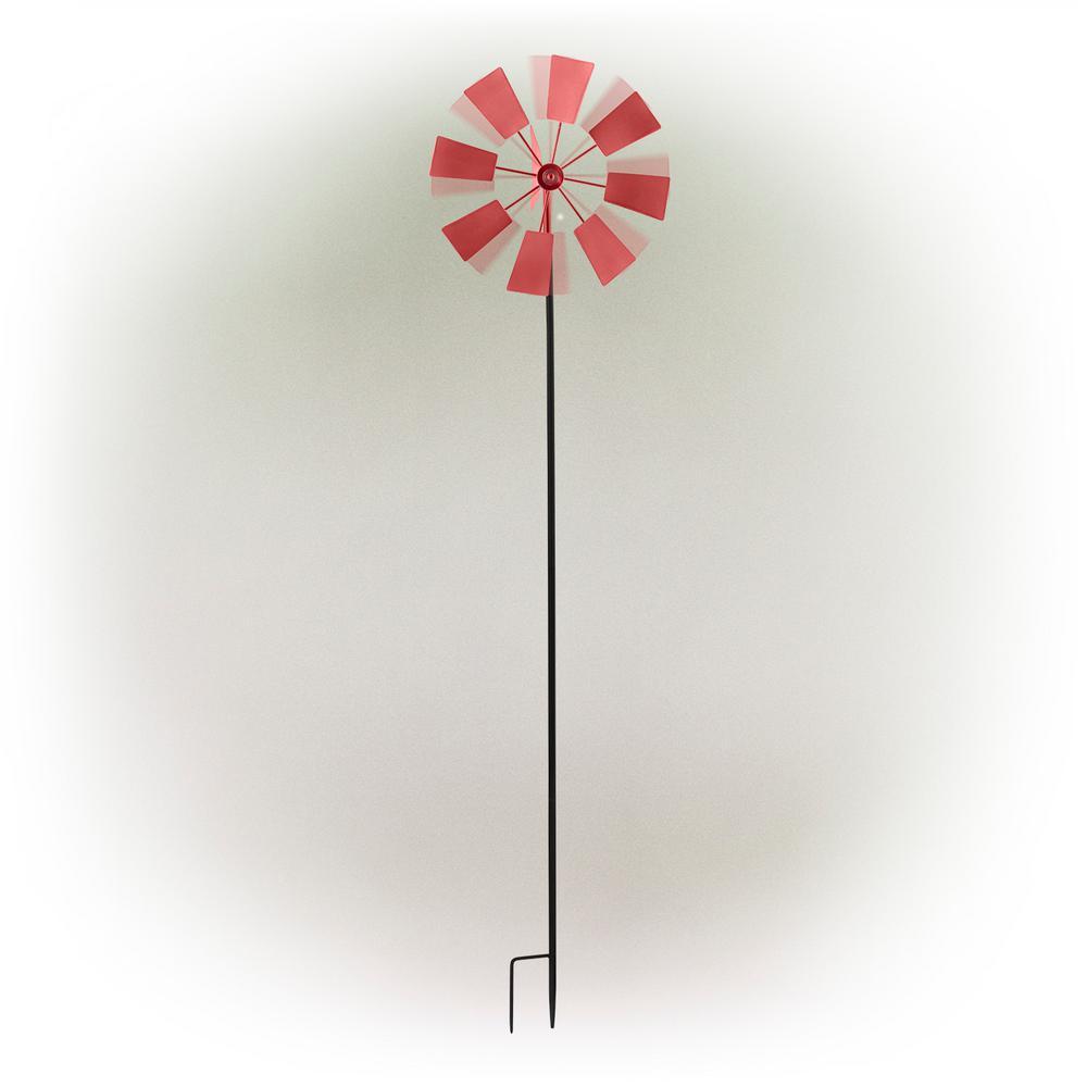 "52"" Red Metal Windmill Stake"