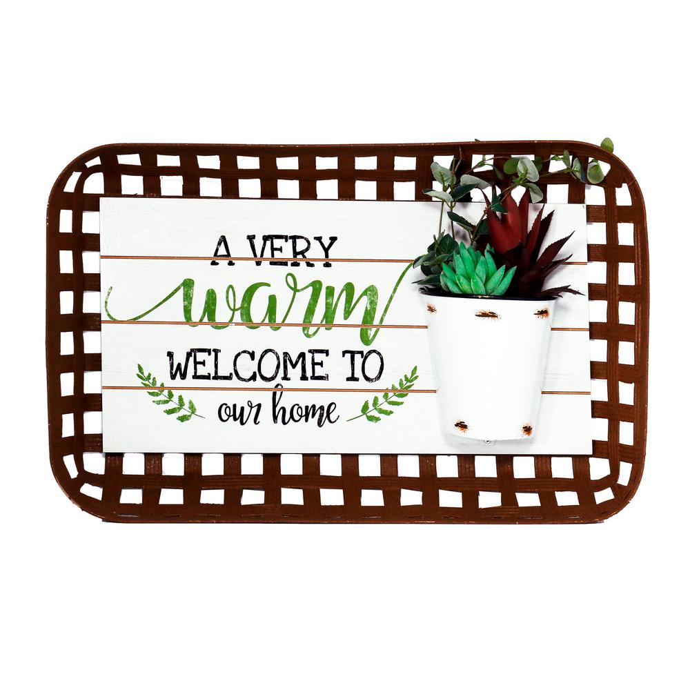 A Very Warm Welcome To Our Home Plant Wall DTcor