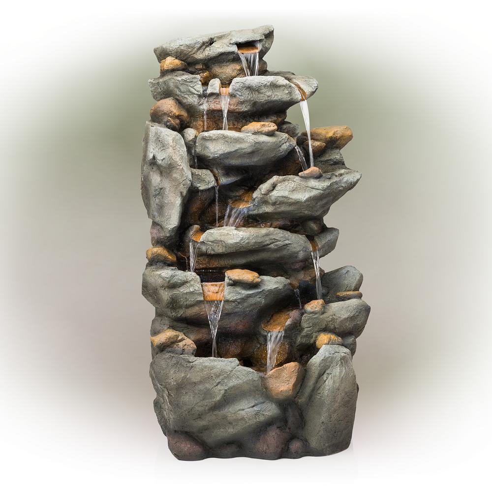 8 Tier Rock Water Fall Fountain