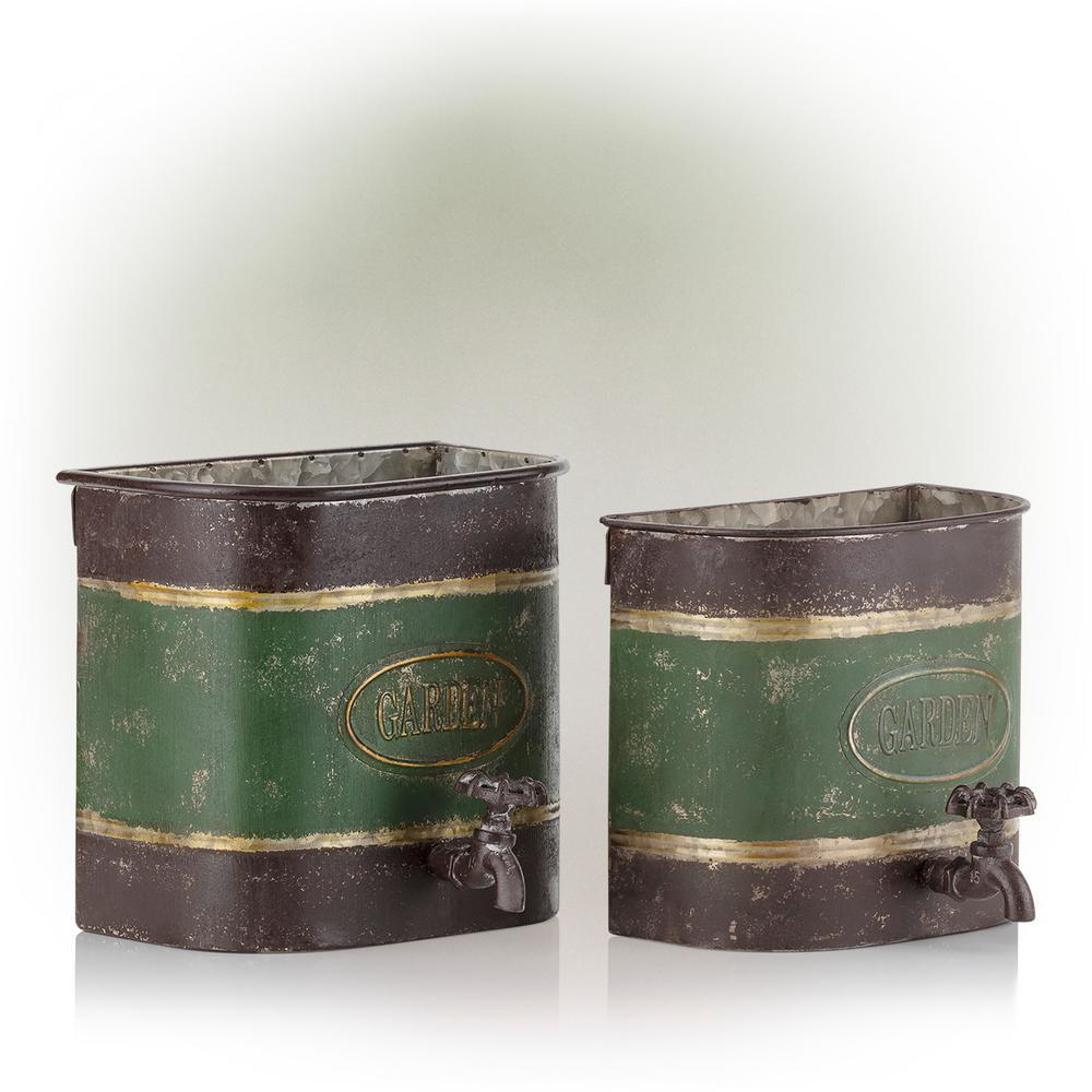 Antique Water Dispenser Planter - Assorted Master Pack of 2