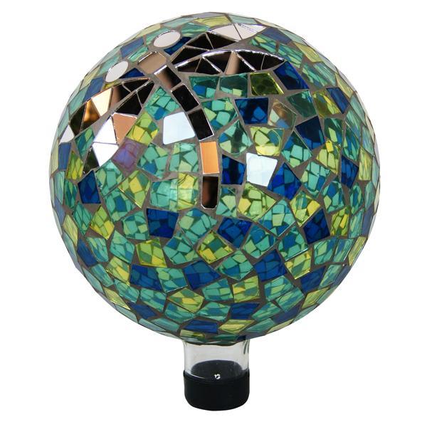 """10"""" Gazing Globe with Dragonfly"""