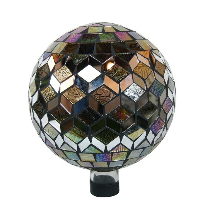 "10"" Gazing Globe Silver"