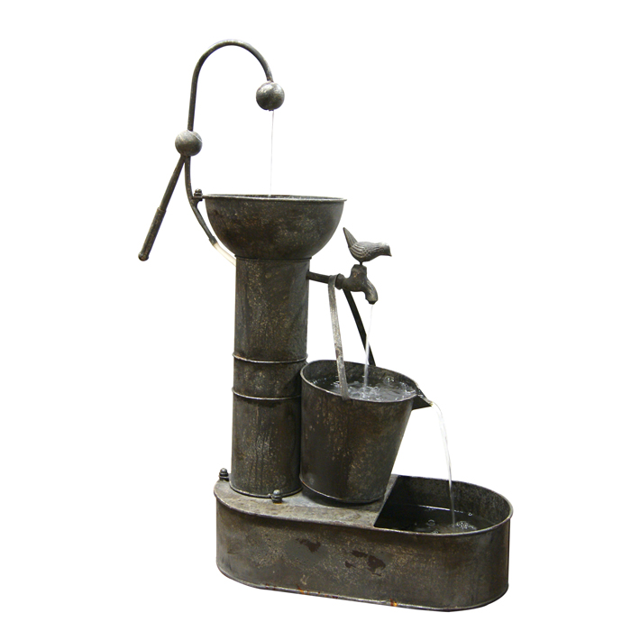 Tiering Tin Fountain