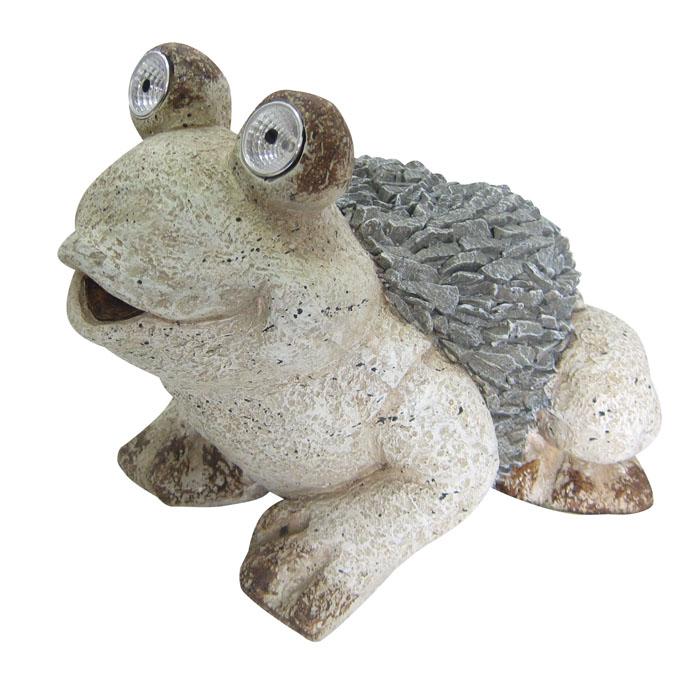 "12"" Solar Frog Statue"