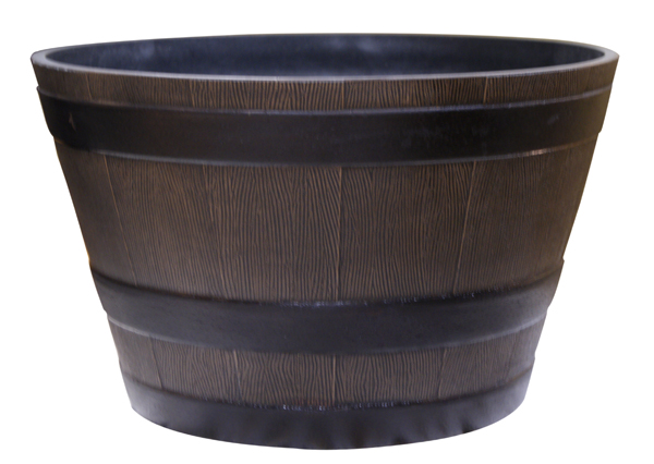 "22"" Barrel Planter - Large - Bronze"