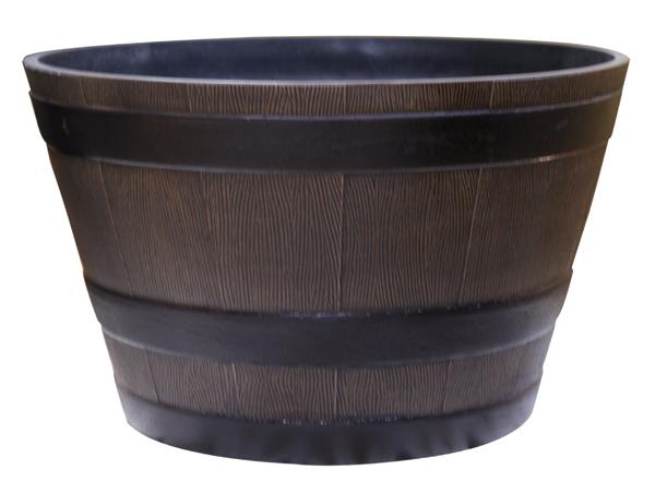 "18"" Barrel Planter - Small - Bronze"