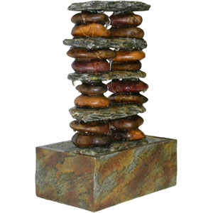 Eternity Tabletop Fountain: Stacked Rocks