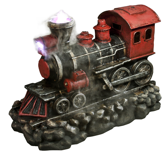 "26"" Red Locomotive Fountain"
