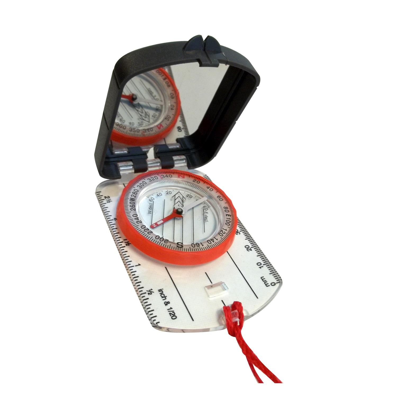 Alpine Mountain Gear Map Compass w/ Mirror
