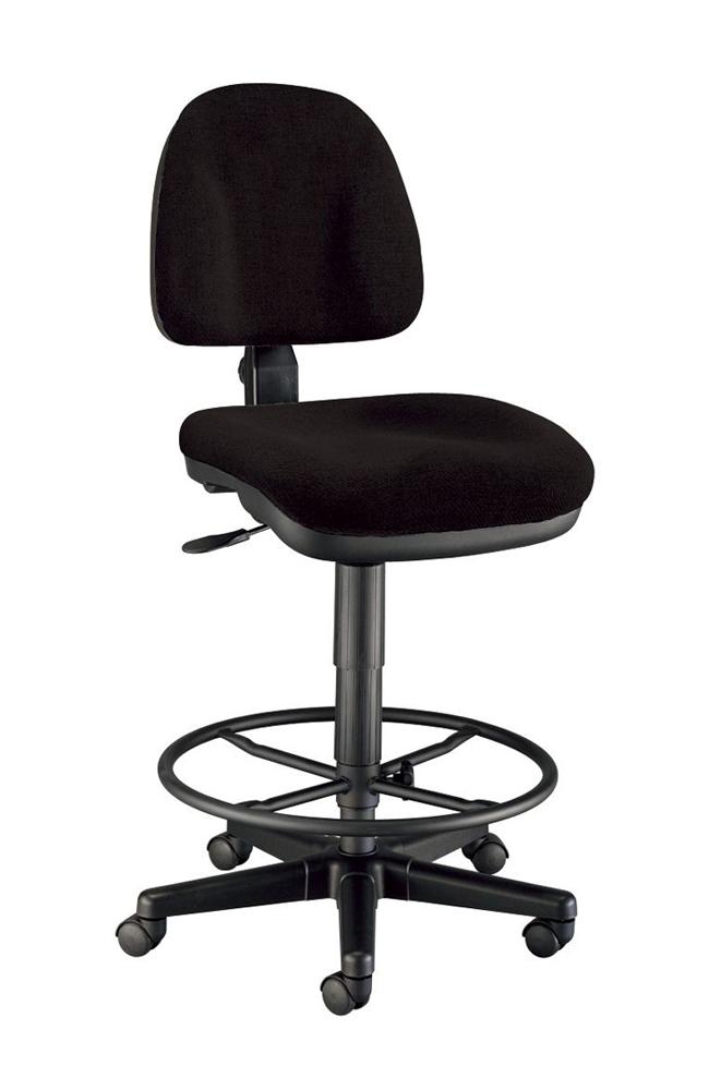 Alvin Black Premo Drafting Height Ergonomic Chair