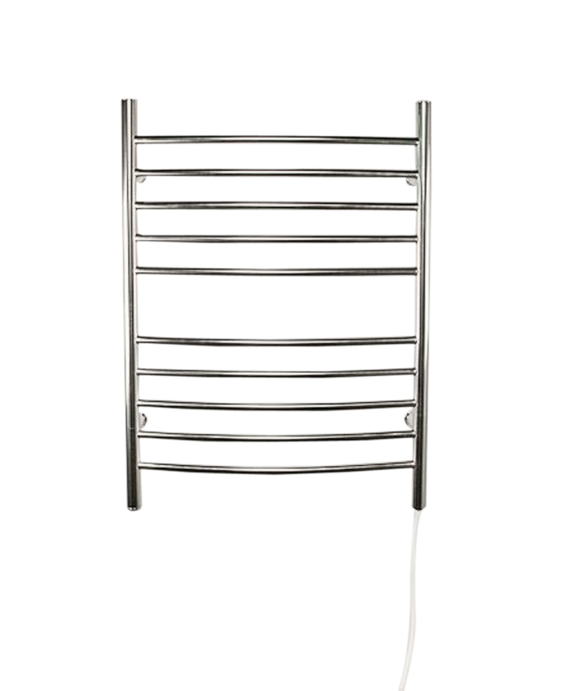 Amba Radiant Plug-in Curved Wall Mounted Towel Warmer- Brushed