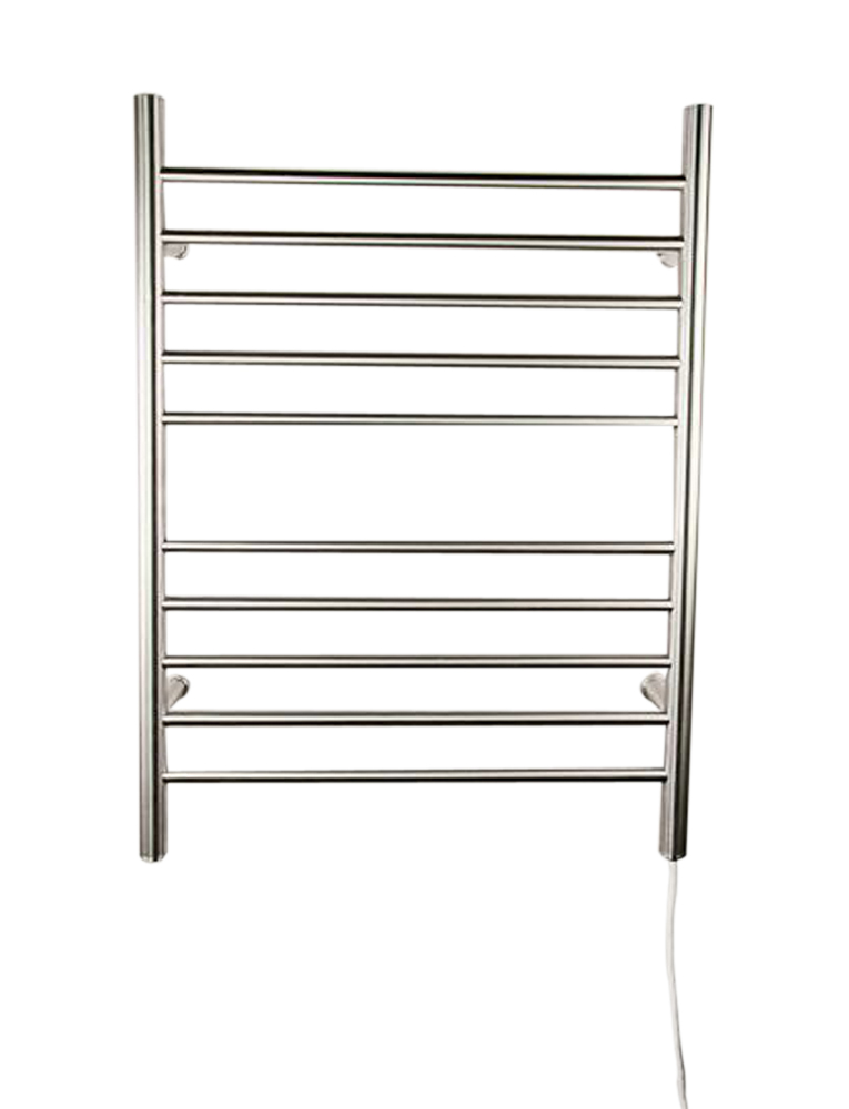 Amba Radiant Plug-in Straight Wall Mounted Towel Warmer- Brushed