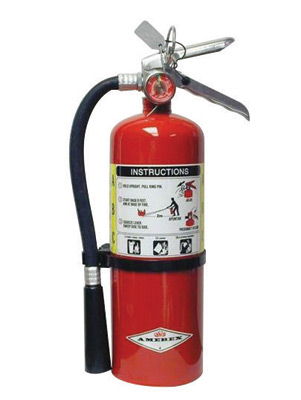 Amerex� 5 Pound Stored Pressure ABC Dry Chemical 2A:10B:C Multi-Purpose Fire Extinguisher For Class A, B And C Fires With Anodiz