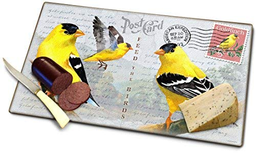 Goldfinch Postcard Cutting Board