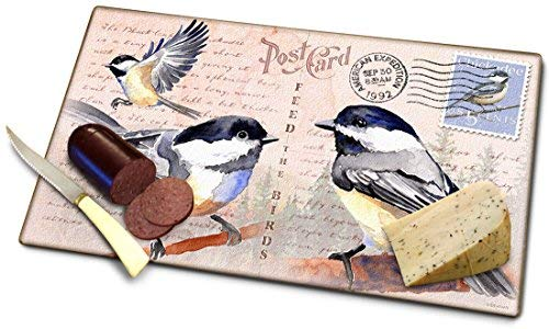 Chickadee Postcard Cutting Board