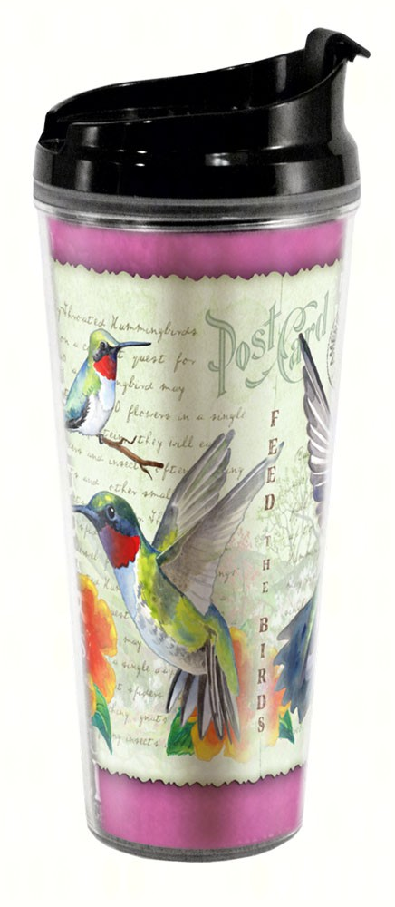 Hummingbird Postcard Tall Tumbler 24 oz