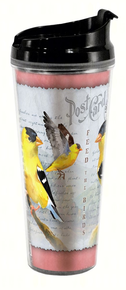 Goldfinch Postcard Tall Tumbler 24 oz