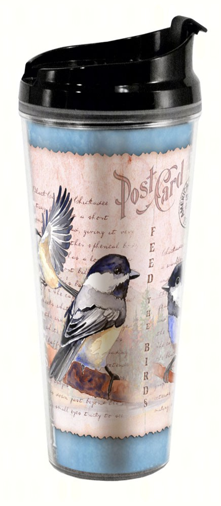 Chickadee Postcard Tall Tumbler 24 oz