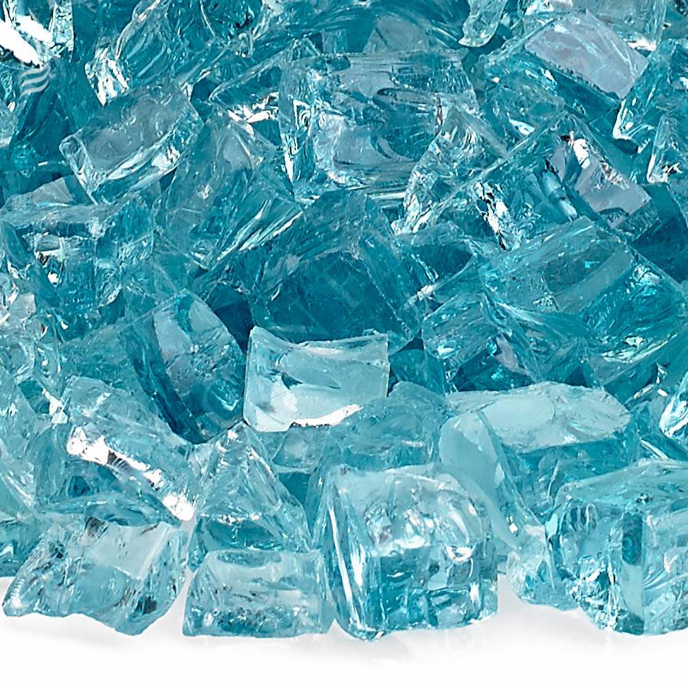 """1/2"""" Azuria Fire Glass, 10 lb. Bag"""