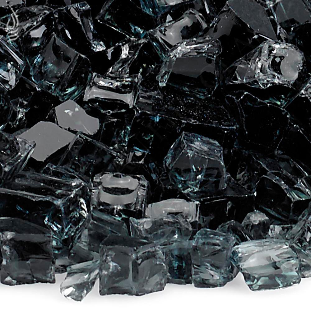 "1/2"" Black Fire Glass, 10 lb. Bag"
