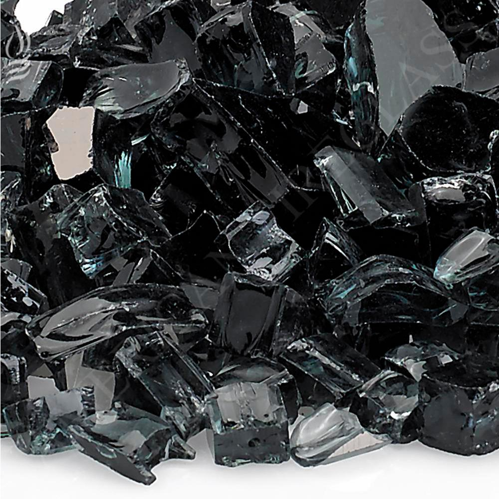 "1/2"" Black Reflective Fire Glass, 10 lb. Bag"