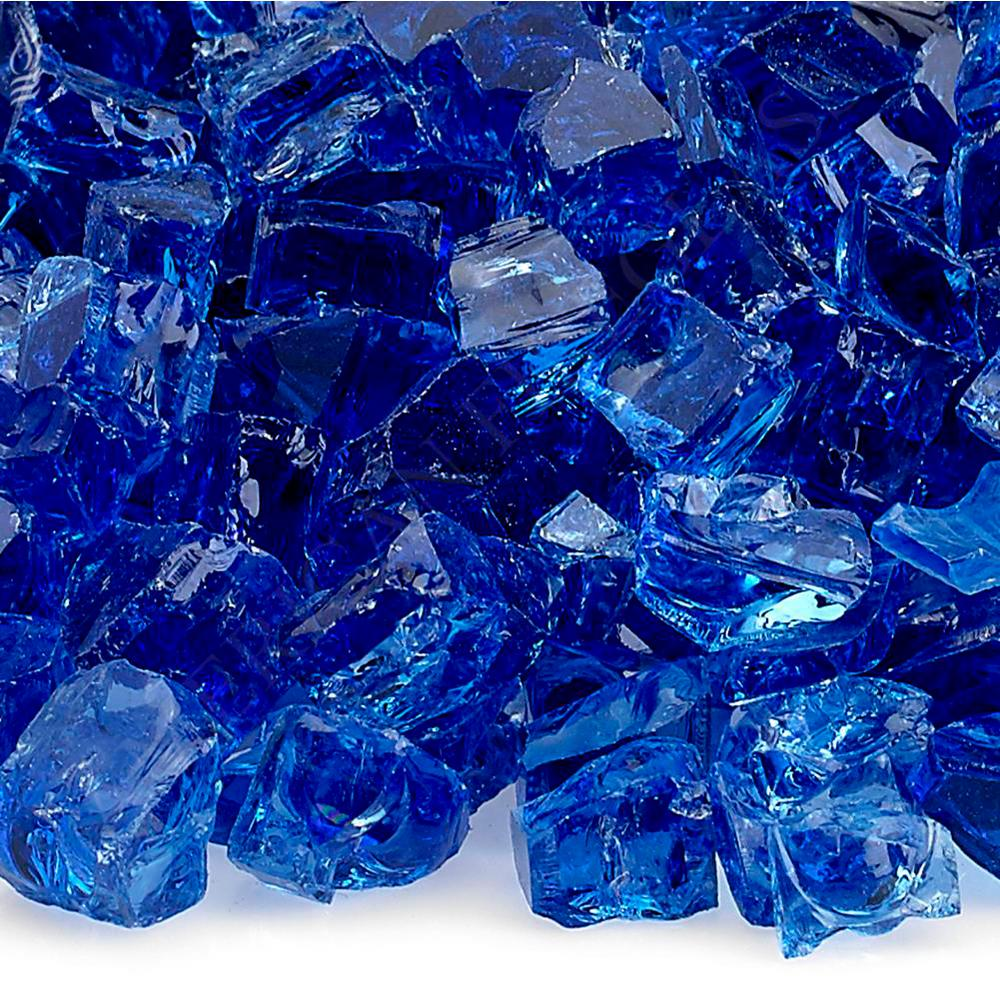 "1/2"" Cobalt Blue Fire Glass, 10 lb. Bag"