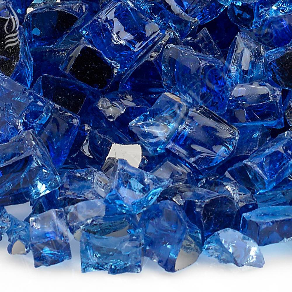 """1/2"""" Cobalt Blue Reflective Fire Glass, 10 lb. Bag"""