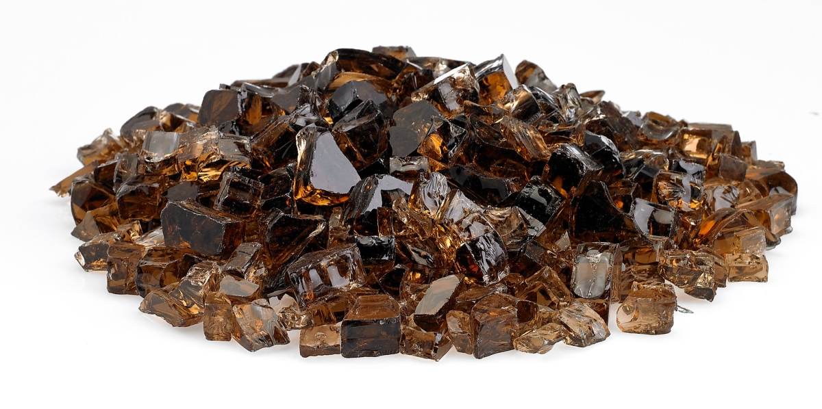 "1/2"" Copper Fire Glass, 10 lb. Jar"