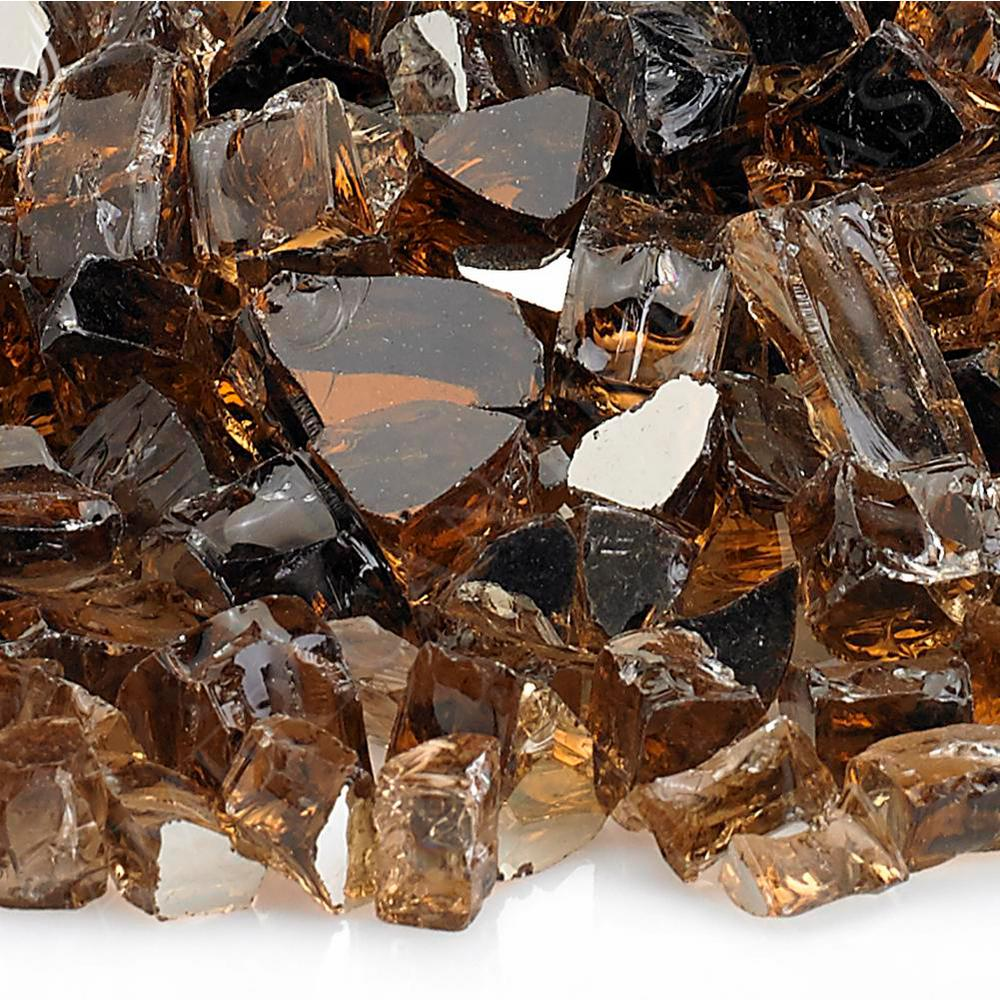 "1/2"" Copper Reflective Fire Glass, 10 lb. Bag"