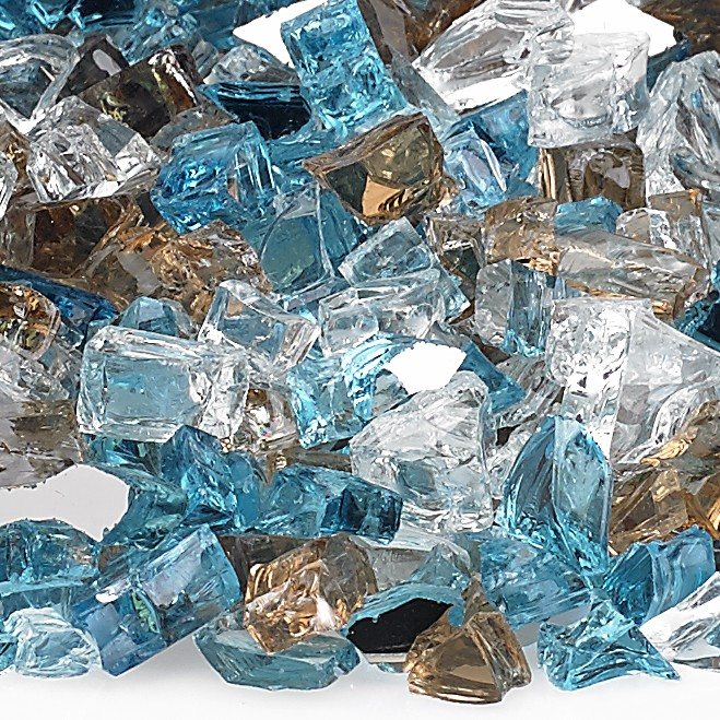 "1/2"" Bali Reflective Fire Glass, 10 lb. Bag"