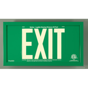 UL924 Green Aluminum EXIT Sign with Green Aluminum Frame