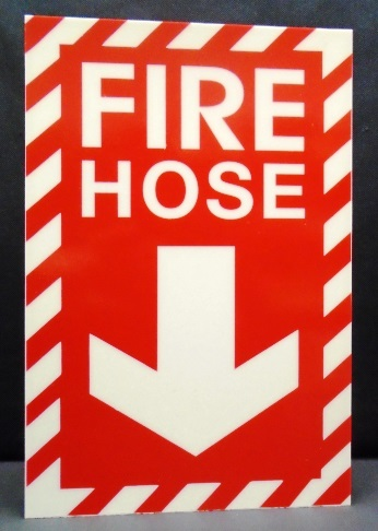 Fire Hose Sign, Self-adhesive