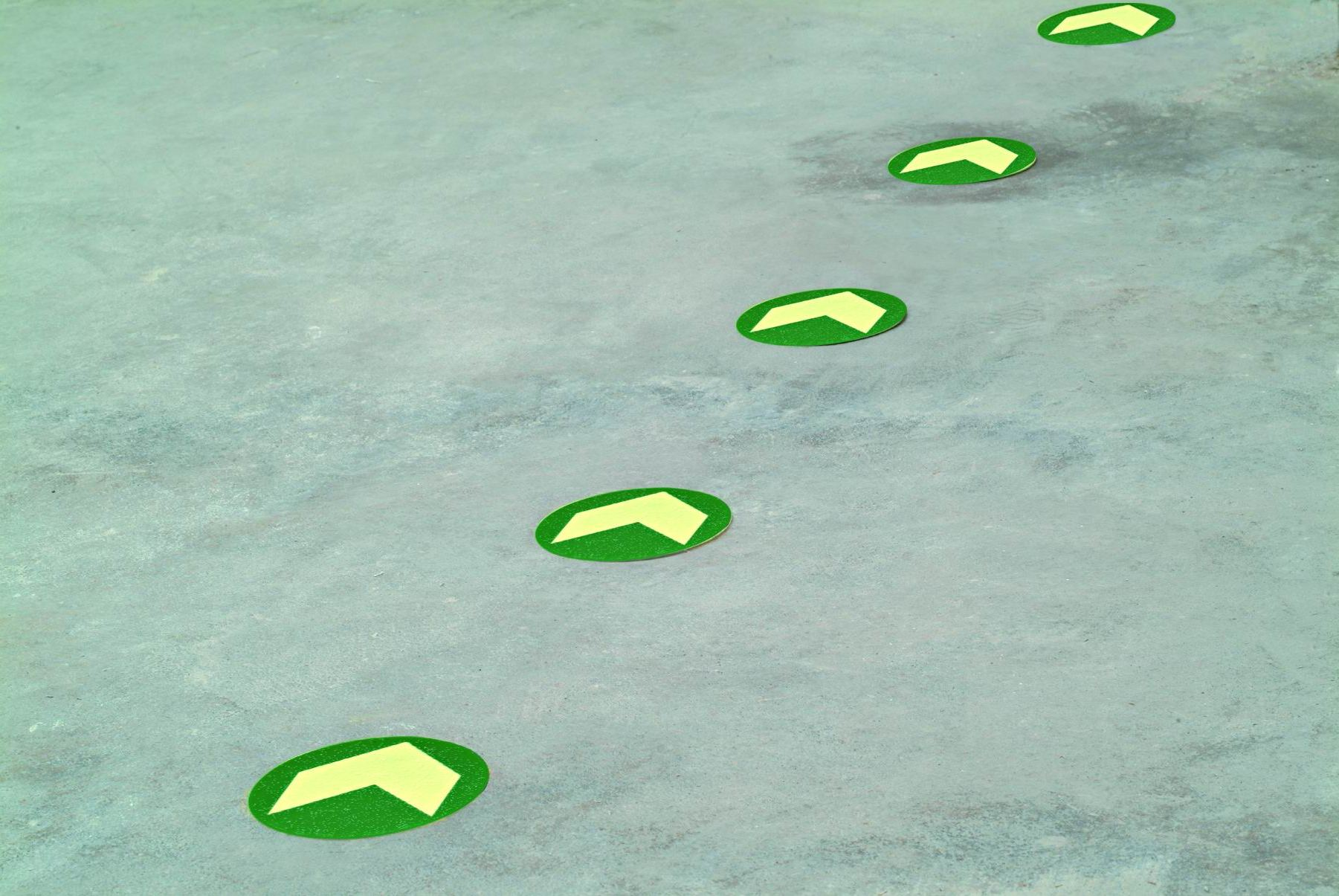Anti-Skid Polycarbonate Floor Dots with Arrow