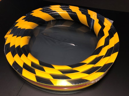 Type R1 Pipe Protection Foam Guard - 16-foot roll - Black/Yellow