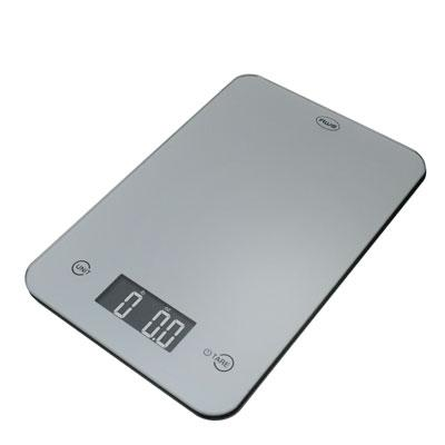 Thin Digital Kitchen Scale Silver