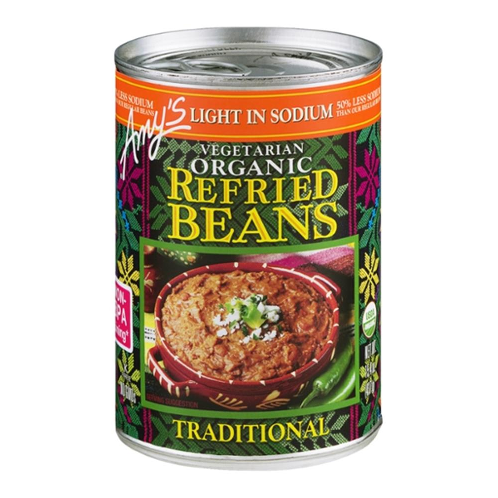 Amy's - Light In Sodium Traditional Refried Beans ( 12 - 15.4 OZ)