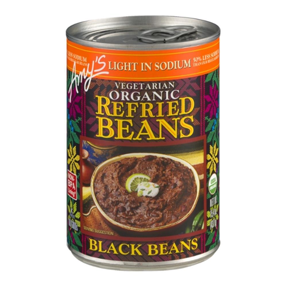 Amy's - Light In Sodium Refried Black Beans ( 12 - 15.4 OZ)