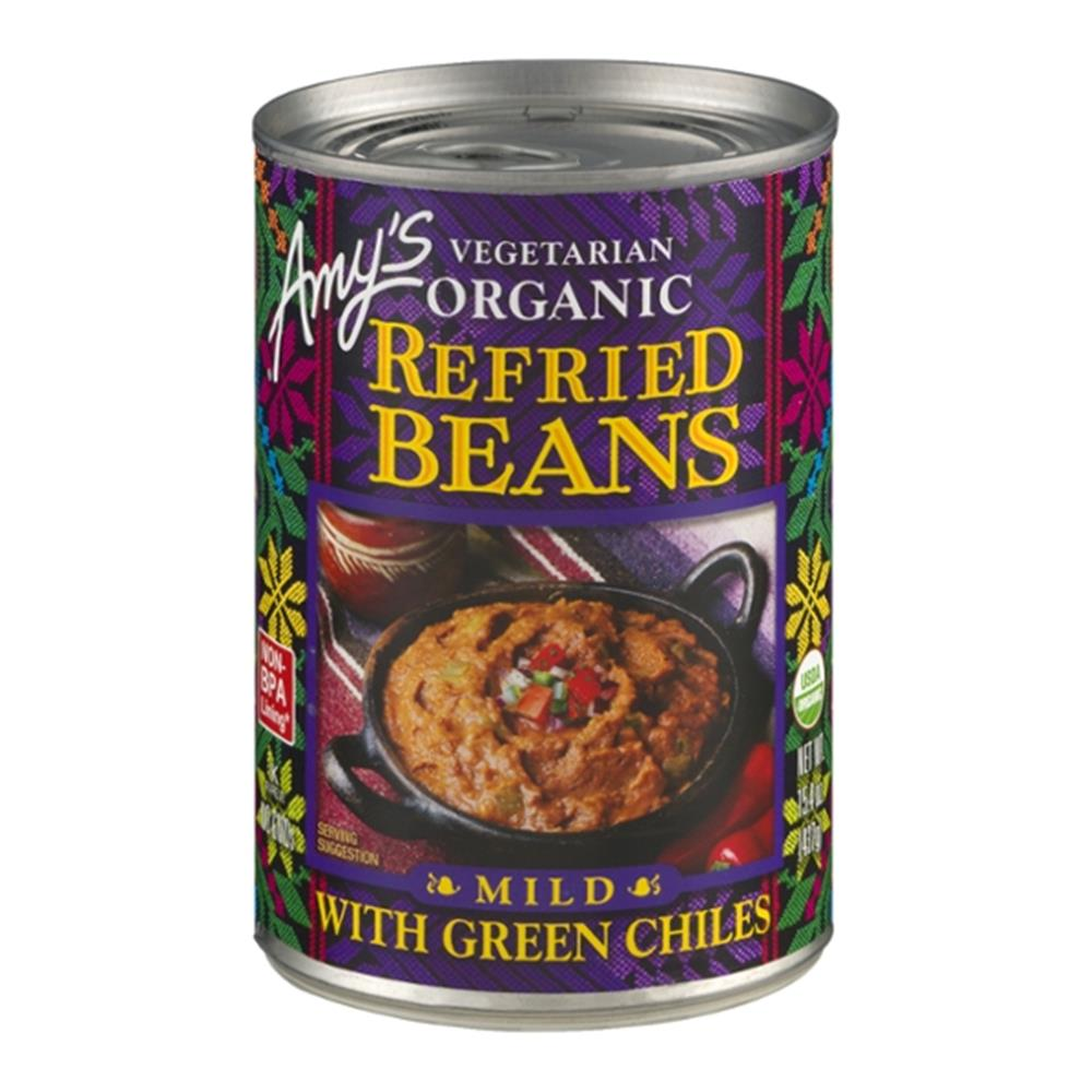 Amy's - Organic Refried Beans With Green Chiles ( 12 - 15.4 OZ)