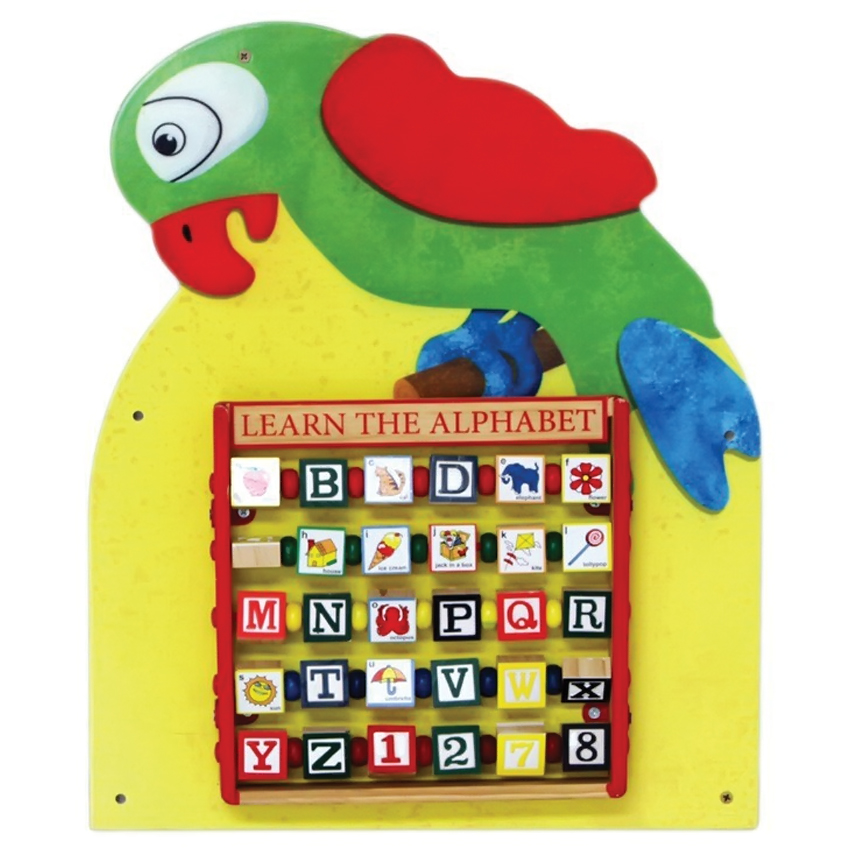 Anatex Parrot Activity Educational Toys Fun Learning Wall Mounted Panel