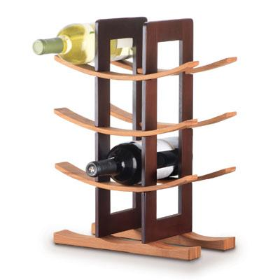 Bamboo Wine Rack, Espresso Accents