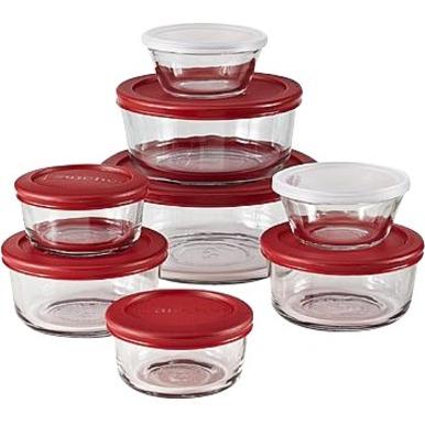 Food Storage Set 16pc Red