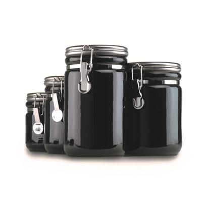 4 Pc. Black Ceramic Clamp Top