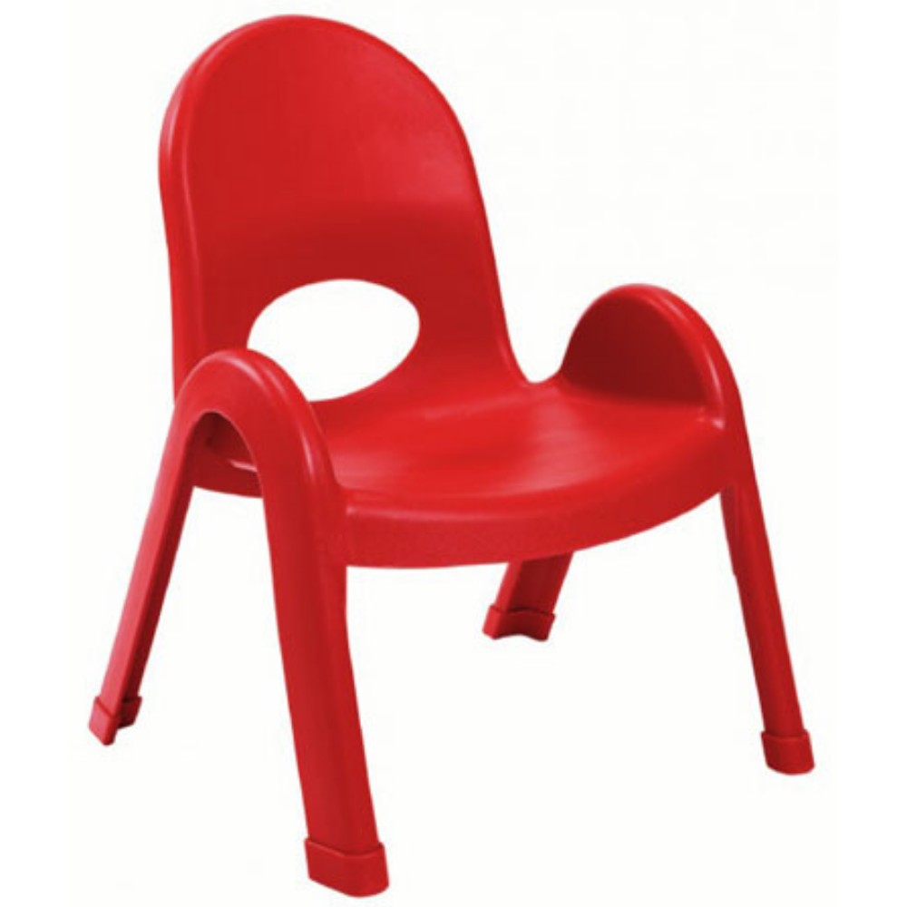 "Value Stack Chair 9"" -Candy Apple Red"