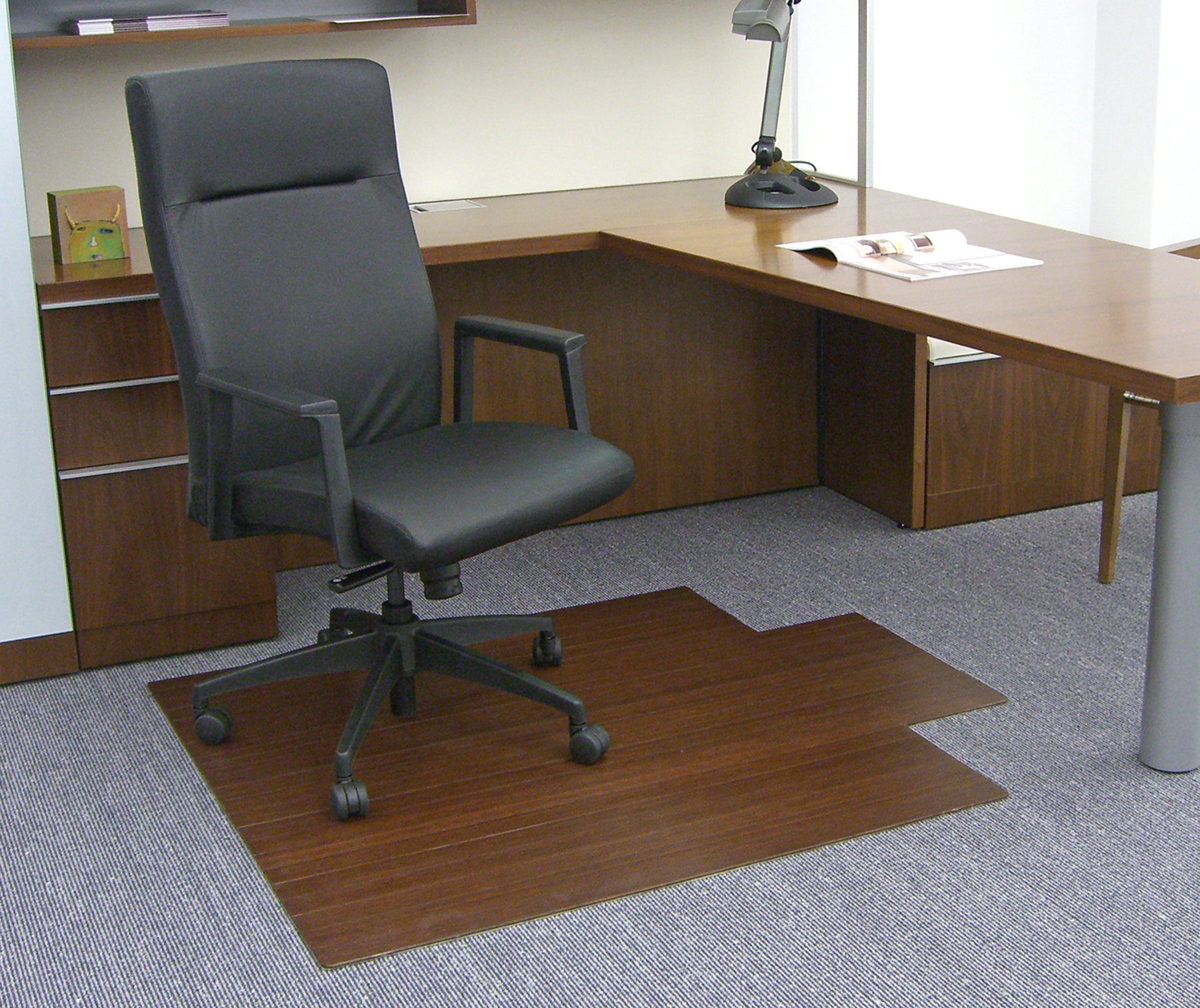 """Bamboo Roll-Up Chairmat, 44"""" x 52"""", with lip"""