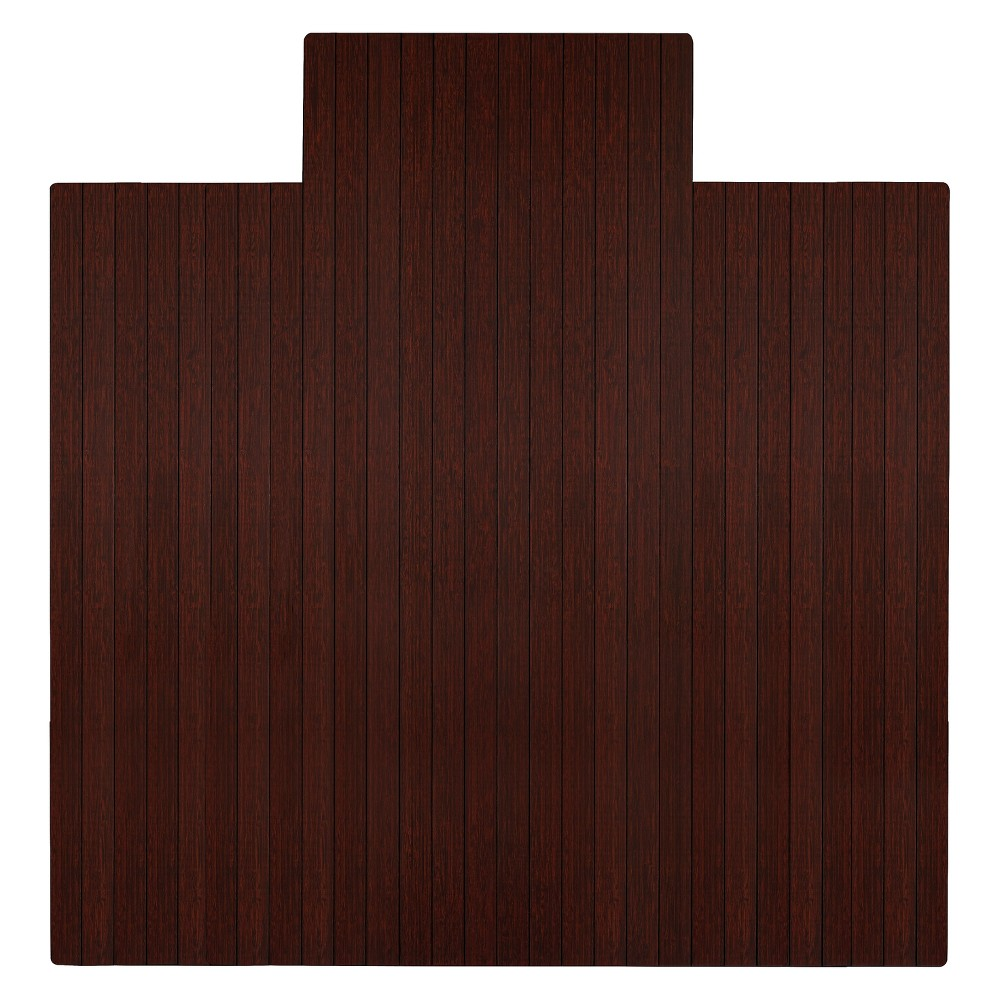 """Bamboo Roll-Up Chairmat, 55"""" x 57"""", with lip"""