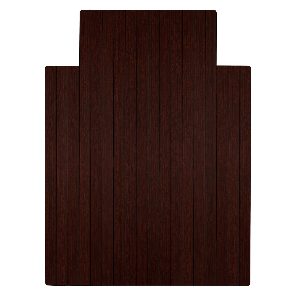 """Bamboo Roll-Up Chairmat, 36"""" x 48"""", with lip"""
