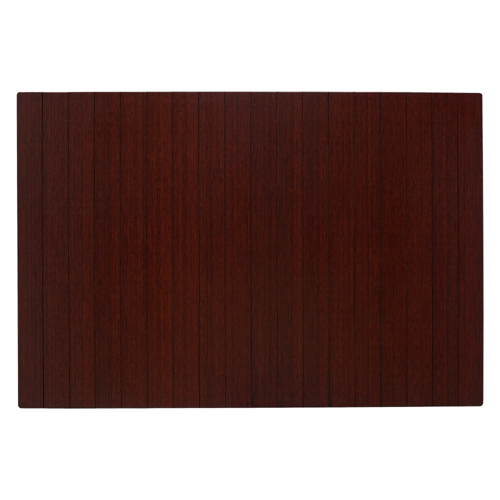 """Bamboo Deluxe Roll-Up Chairmat, 72"""" x 48"""", no lip"""